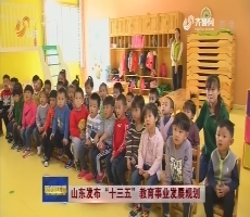 """山东发布""""十三五""""教育事业发展规划"""