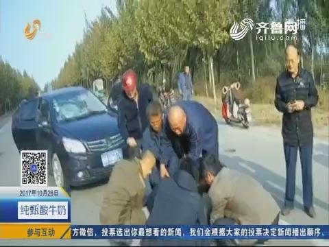 """禹城:交警巡逻车秒变""""救护车"""""""