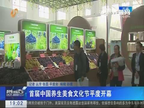 首届中国养生美食文化节平度开幕