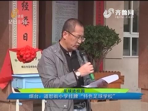 """【足球进校园】烟台:道恕街小学挂牌""""特色足球学校"""""""