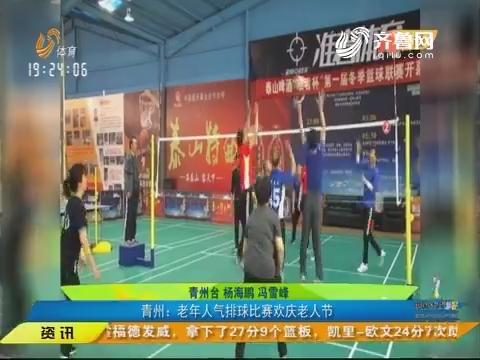 【闪电速递】青州:老年人气排球比赛欢庆老人节