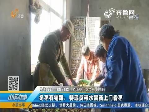 沾化县:冬枣有销路 特派员带水果商上门看枣