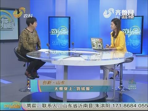 """20171031《农科直播间》:创新·山东 大棚穿上""""羽绒服"""""""