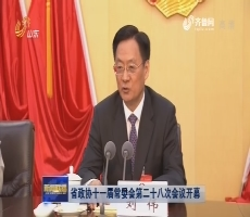 省政协十一届常委会第二十八次会议开幕