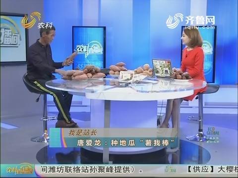 """20171104《农科直播间》:我是站长——唐爱龙 种地瓜""""薯我棒"""""""