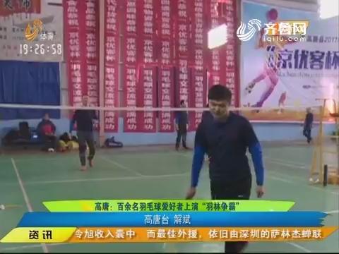 """闪电速递:高唐 百余名羽毛球爱好者上演""""羽林争霸"""""""