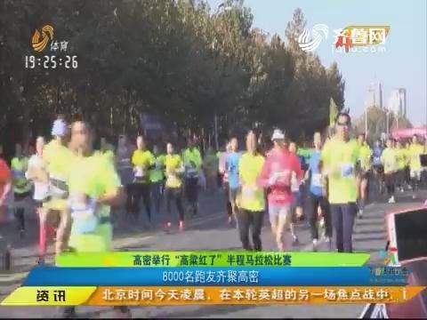 """闪电速递:高密举行""""高粱红了""""半程马拉松比赛 8000名跑友齐聚高密"""