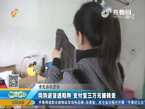 淄博:网购退货遇陷阱 支付宝三万元被转走
