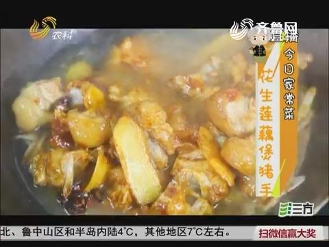 鼎好大厨教做家常菜:花生莲藕煲猪手
