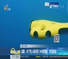 """法国:水下无人机问世 360度跟拍""""灵活如鱼"""""""
