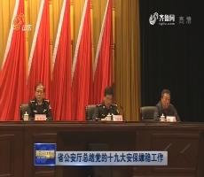 省公安厅总结党的十九大安保维稳工作