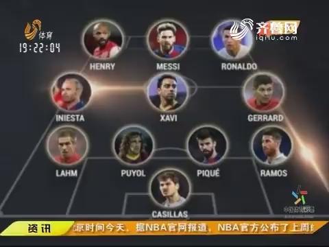 【闪电速递】欧足联评21世纪最强阵容 梅西C罗领衔