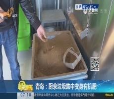 青岛:厨余垃圾集中变身有机肥