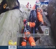 泰安:游客失足坠崖 消防火速救援