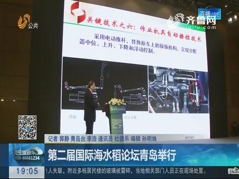 第二届国际海水稻论坛青岛举行
