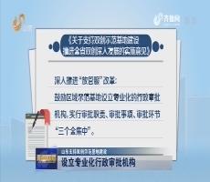 【山东支持双创示范基地建设】设立专业化行政审批机构