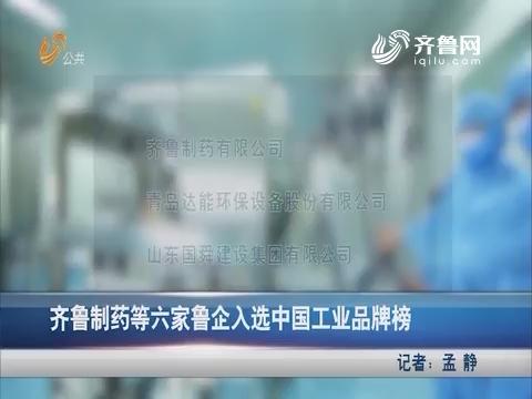 齐鲁制药等六家鲁企入选中国工业品牌榜