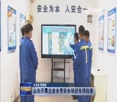 山东开展企业全员安全培训专项检查