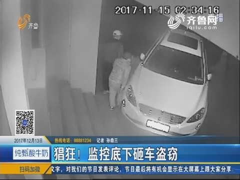 平阴:猖狂!监控底下砸车盗窃