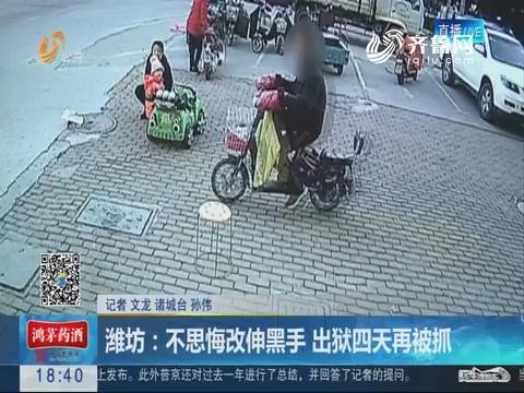 潍坊:不思悔改伸黑手 出狱四天再被抓