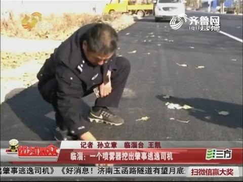 临淄:一个喷雾器挖出肇事逃逸司机