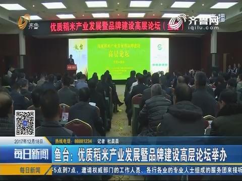 鱼台:优质稻米产业发展暨品牌建设高层论坛举办