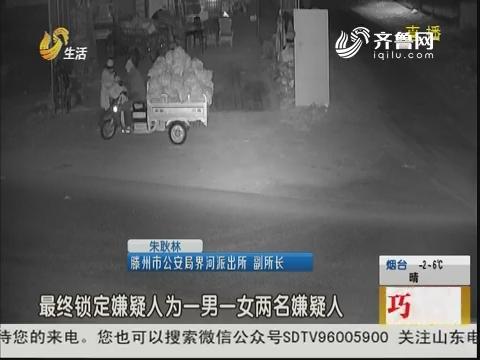 滕州:三更半夜 夫妻搭档偷玉米