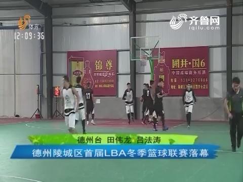 德州陵城区首届LBA冬季篮球联赛落幕