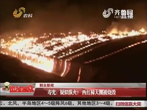 【群众新闻】寿光:疑似纵火!西红柿大棚被烧毁