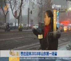 闪电连线:枣庄迎来2018年山东第一场雪
