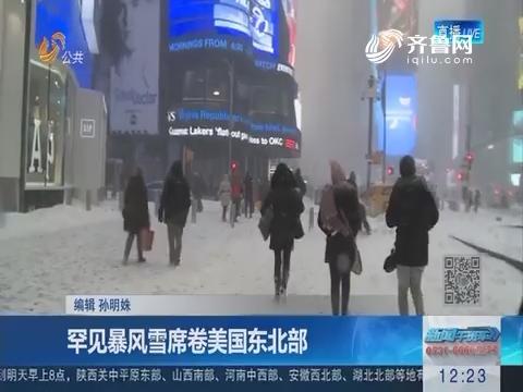 罕见暴风雪席卷美国东北部