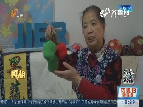 【真相】济南:巧手老太缝制布艺果蔬