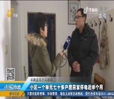 莱芜:小区一个单元七十多户居民家停电近半个月