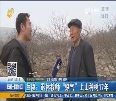 """兰陵:退休教师""""赌气""""上山种树17年"""