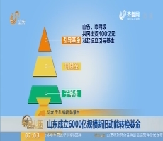 山东成立6000亿规模新旧动能转换基金
