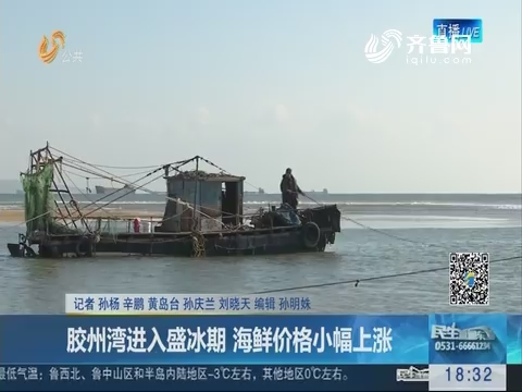 青岛:胶州湾进入盛冰期 海鲜价格小幅上涨