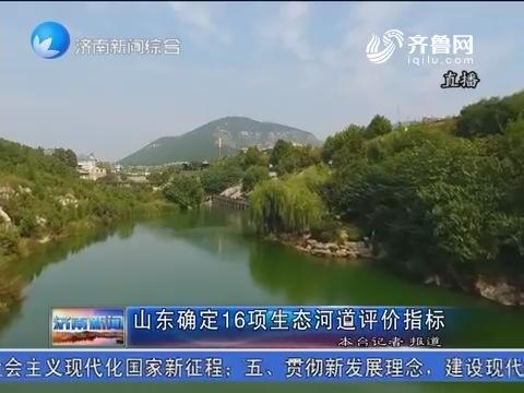 龙都longdu66龙都娱乐确定16项生态河道评价指标