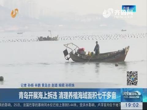 青岛开展海上拆违 清理养殖海域面积七千多亩