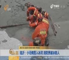 【闪电新闻排行榜】临沂:小哥俩落入冰河 消防员破冰救人
