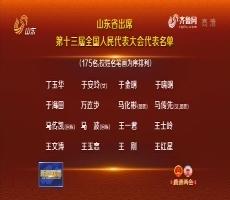 山东省出席第十三届全国人民代表大会代表名单
