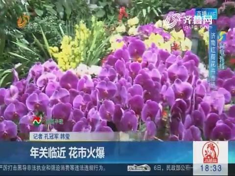 【闪电连线】济南:年关临近 花市火爆