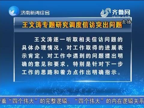王文涛专题研究调度信访突出问题