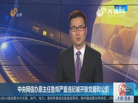 中央网信办原主任鲁炜严重违纪被开除党籍和公职
