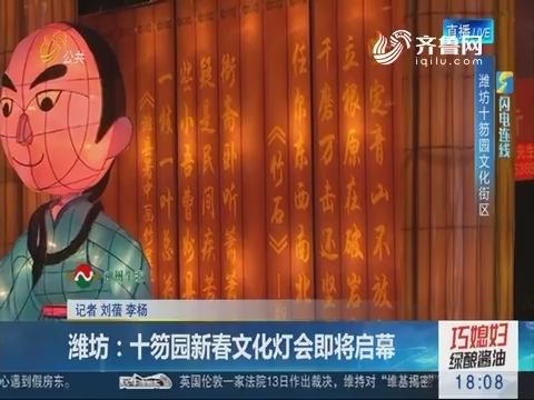 潍坊:十笏园新春文化灯会即将启幕