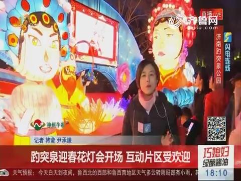 【闪电连线】趵突泉迎春花灯会开场 互动片区受欢迎