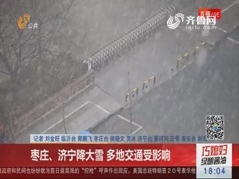 枣庄、济宁降大雪 多地交通受影响
