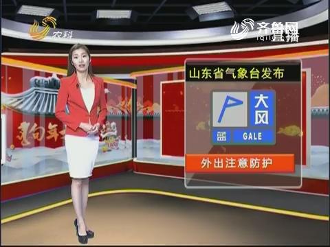 看天气:山东省气象台发布蓝色大风预警信号 外出注意防护