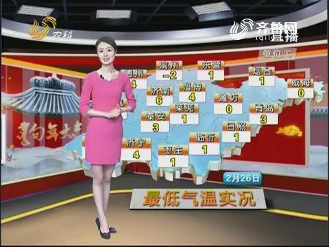 看天气:2月27日晚到28日山东省有降水