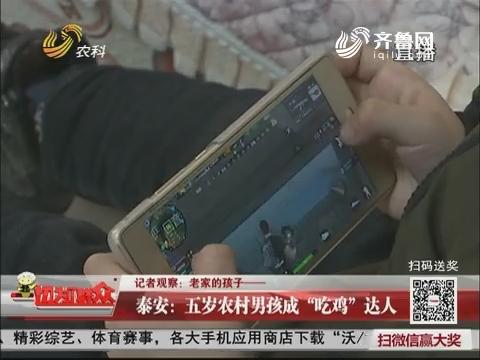 """【记者观察:老家的孩子——】泰安:五岁农村男孩成""""吃鸡""""达人"""