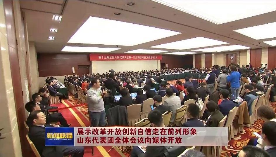 展示改革开放创新自信走在前列形象 山东代表团全体会议向媒体开放